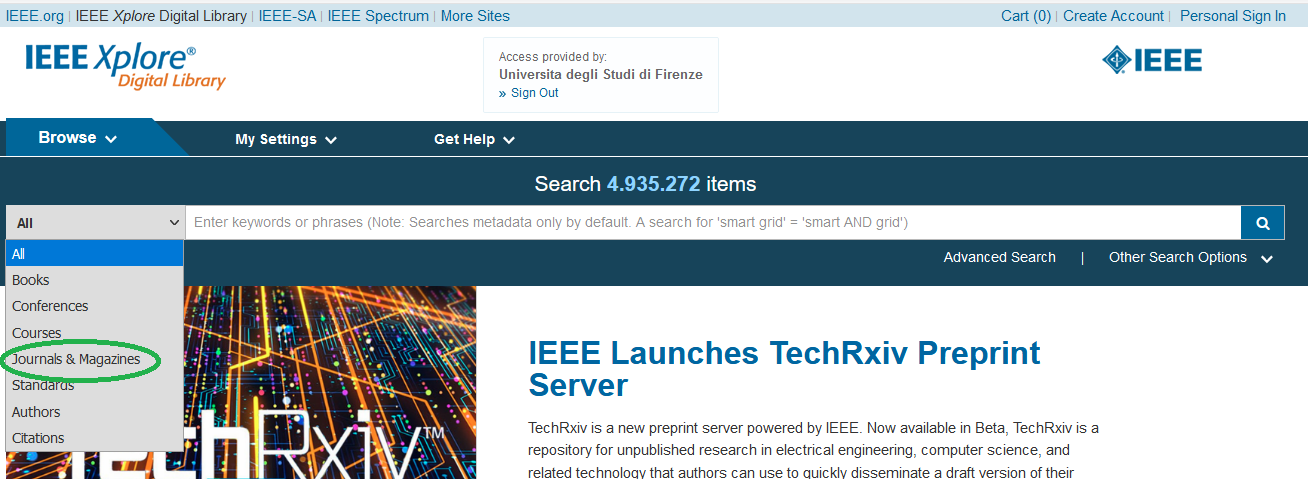 IEEE Xplore filtri